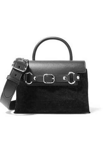 mini bag shoulder bag leather suede black