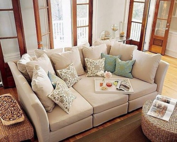 home accessory pottery barn sofa classy beige cozy jeans jewels