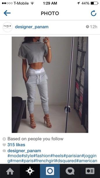 Jumpsuit Grey Tumblr Fashion Sweatpants Asap Rocky