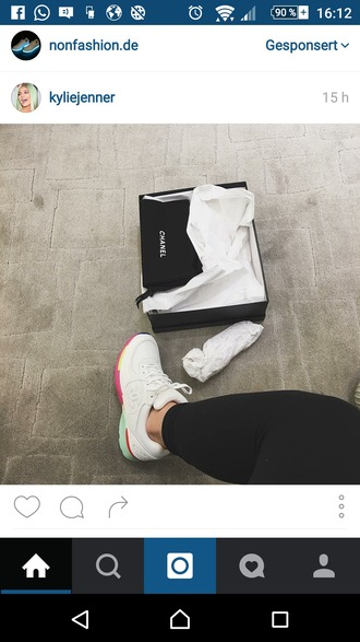 shoes white kylie jenner white sneakers