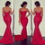 Sleek Sweetheart Lace Prom Dress, Hot Red Prom Dress with Floral Lace, Sexy Mermaid Sleeveless Prom Dress, #02016061 on Storenvy