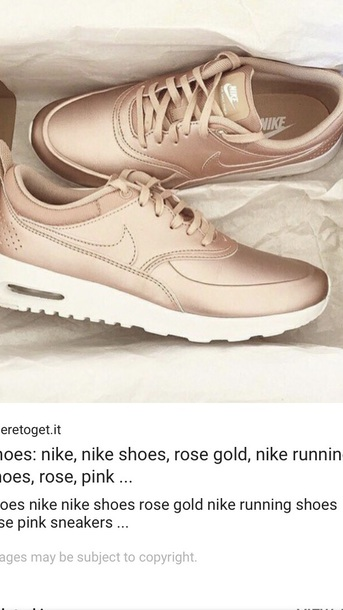 shoes nike rose gold