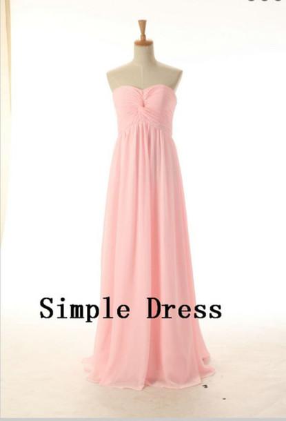 dress long bridesmaid dress pink bridesmaid dress