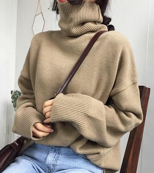 sweater girly sweatshirt jumper turtleneck turtleneck sweater