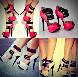 shoes heels red nude beige high heels fashion style sexy strappy platform shoes peep toe sandals beautiful fierce party