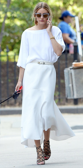 dress sunglasses olivia palermo white dress
