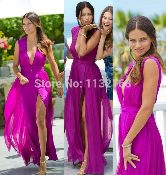 Aliexpress.com : Buy Sexy V neck Champagne Sequins Chiffon A line prom dresses,Cheap V neck sequins and chiffon 2014 hot sale formal evening dresses from Reliable dress up plain dress suppliers on Making your dreaming dress!