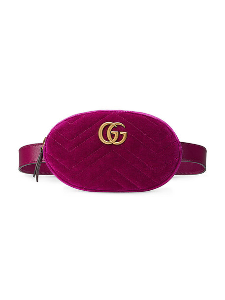belt bag women bag silk velvet purple pink