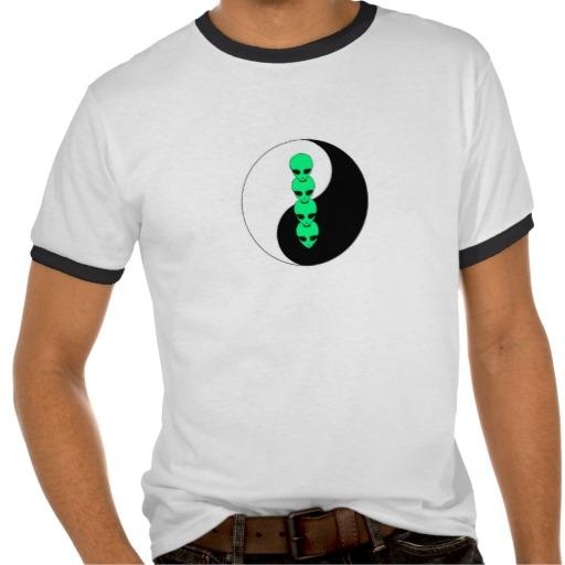 Alien Yin Yang tee