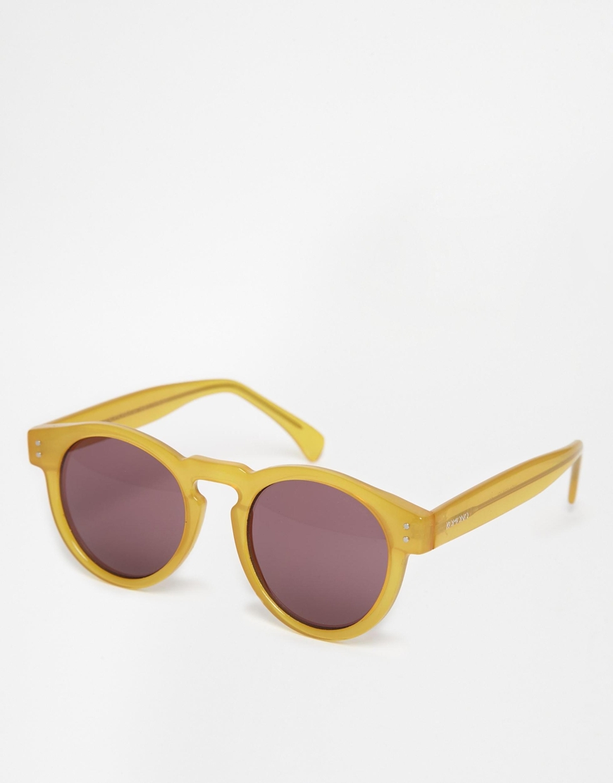 Komono Clement Round Sunglasses at asos.com
