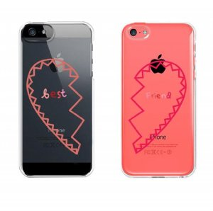 Amazon Com Bff Clear Phone Covers Best Friends Hearts