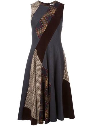 dress patchwork women spandex cotton wool