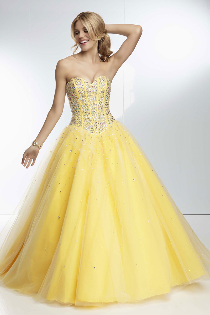 Tulle bodice, beading ball gown a full prom dress