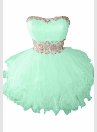 mint homecoming poofy crystal tulle skirt short dress mint dress turquoise prom prom dress junior prom short dress teal yesangele bag wallet leather pink coral