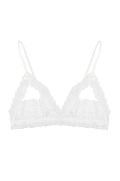Hanky Panky bralette open princess lace white