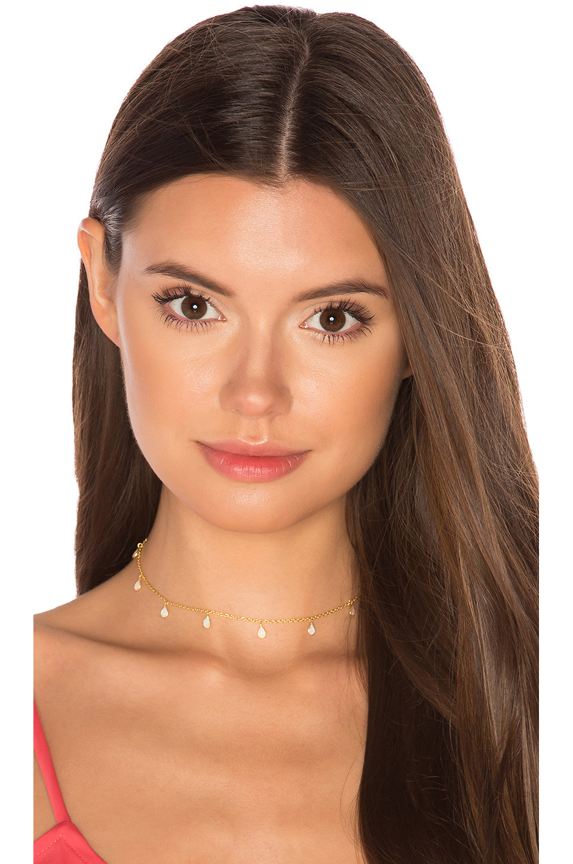 Natalie B Jewelry Odessa Opal Choker in gold / metallic