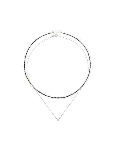 women necklace diamond necklace gold black jewels