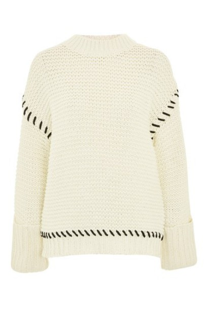 Topshop jumper cream sweater