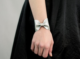 jewels silver bow tie bow bracelet bow cuff faux leather silver bow cuff silver bow tie silver bow bracelet bow accessory metallic metallic silver metallic accessory bows