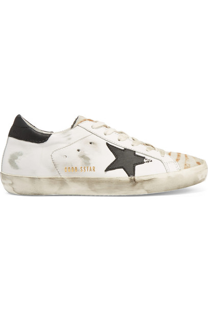 hair sneakers leather white off-white shoes