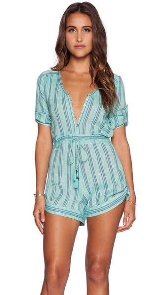 romper spring spring outfits spring romper spring break girl brown hair blogger fashion fashion blogger love like pretty beautiful jumpsuit/rompers jumpsuit playsuits turquoise