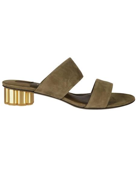Salvatore Ferragamo sandals green shoes