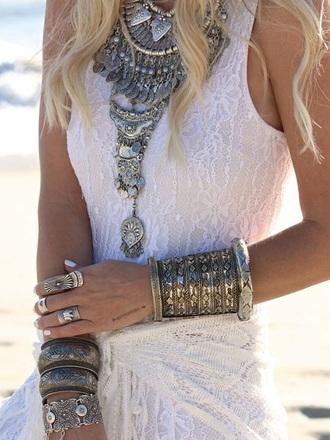 jewels ring necklace bracelets jewelry knuckle ring silver silver ring boho boho jewelry bohemian