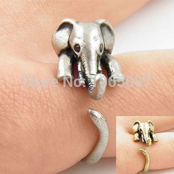 Aliexpress.com: купить очаровательны античная слон регулируемая животных обертывание hug палец кольцо bunished черный горный хрусталь глаза свободный размер #5 # 2 цвета из надежный кольца поставщиков на beyond jewelry (no minimum order limit)