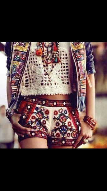 shorts jacket top jewels hippie cardigan