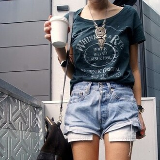 shorts high waisted shorts vintage jewels t-shirt shirt tumblr girl cool 90s style goth pastel goth jeans graphic tee green street