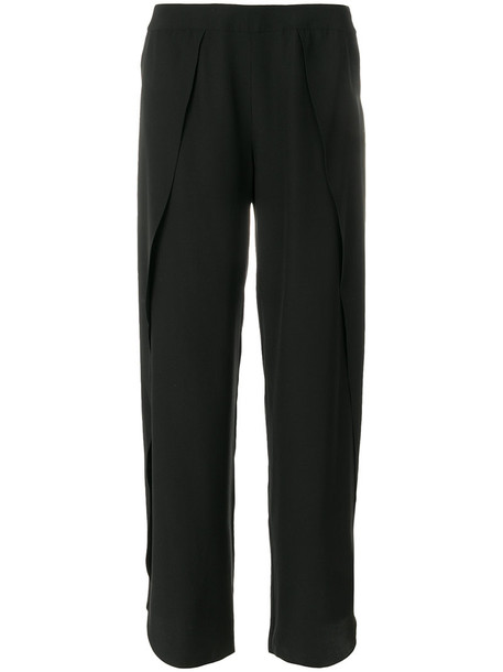 Totême pants palazzo pants women black silk