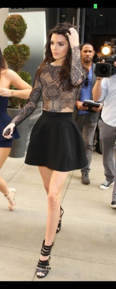 kendall jenner top lace top