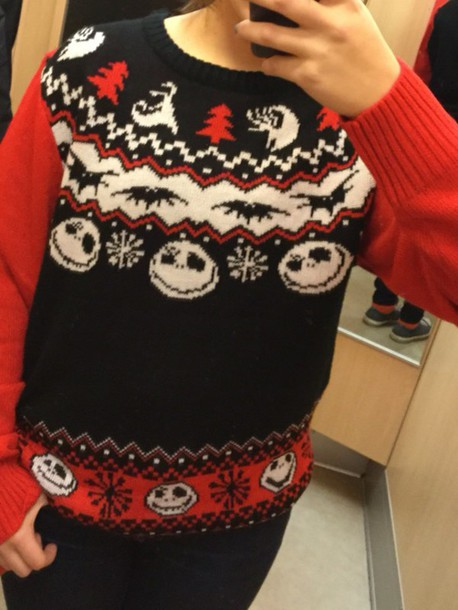 Sweater Nightmare Before Christmas Jack Skellington Ugly