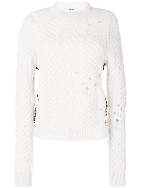 Damir Doma - perforated jumper - women - Virgin Wool - M, White, Virgin Wool