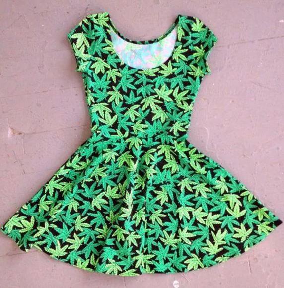 green dress weed dress marijuana print weed leaf weed leaves marijuana symbol