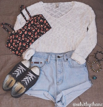 cute hippie hipster girly tumblr boho sweater top