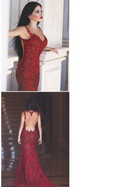 dress red gown open back dresses prom dress prom gown red dress sparkly dress ball gown dress red carpet dress