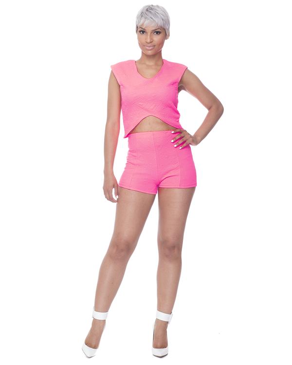 POP LIFE Short Set in Neon Pink – FLYJANE
