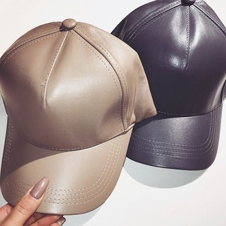 hat tan black baseball cap fitted baseball cap
