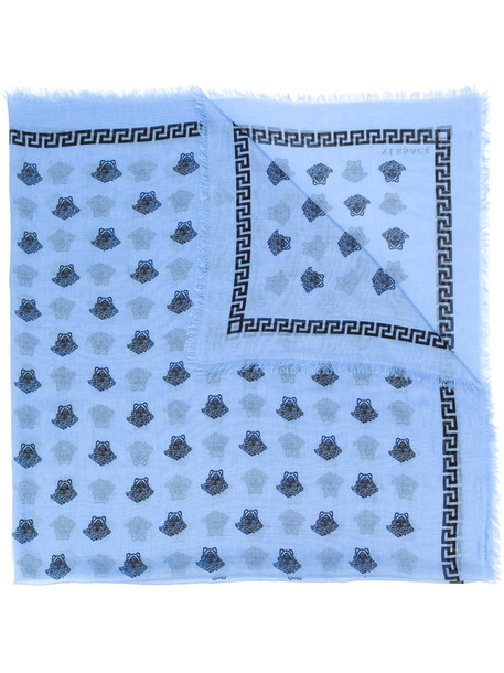 Versace Medusa motif scarf - Blue