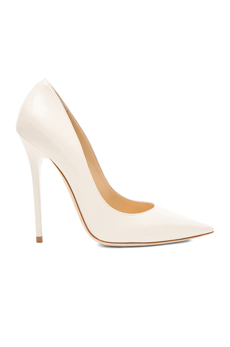 abfe9cdd3ce ... new style jimmy choo anouk leather pumps in off white fwrd fb8f3 d53e3
