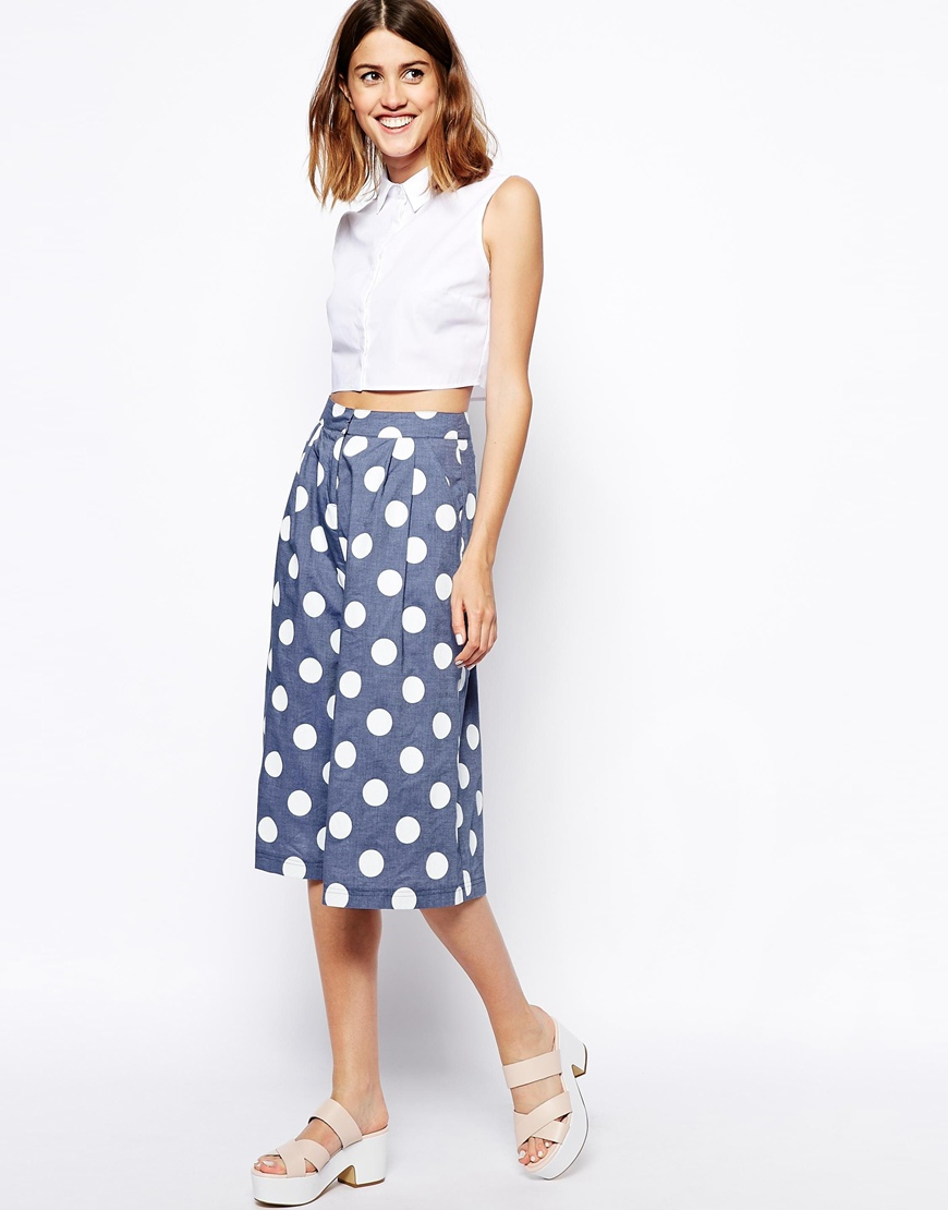 ASOS Sleeveless Crop Shirt at asos.com