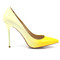 Yellow stiletto high heel
