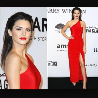 dress kendall jenner red