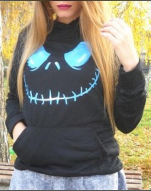 sweater black womans pullover women women's hoodie pullover black skull sweater skull printed