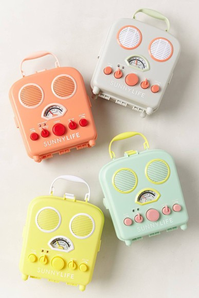 pastel earphones music beach radio sound box festival home decor technology