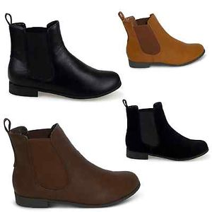 092fdd710e882 womens new black flat faux suede chelsea boots ladies ankle pu ...