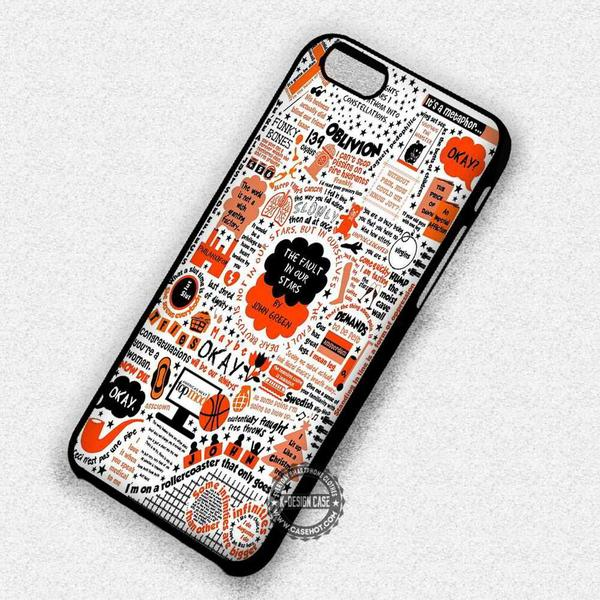 The Fault in Our Stars Collage Orange Style - iPhone 7 6 5 SE Cases & Covers