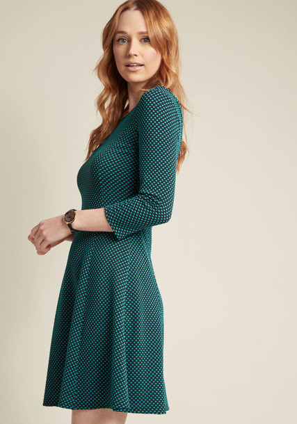 dress knit green