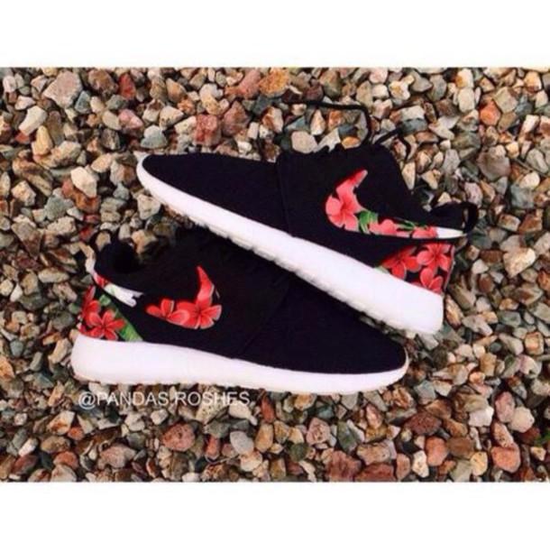 shoes nike flower print